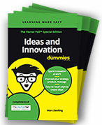 Book Cover of Ideas and Innovation For Dummies